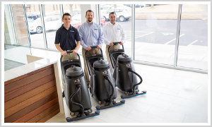 Stripping & Refinishing from Buildingstars Commercial Cleaning is a Specialty Cleaning Service which restores your flooring! The old wax coating is dissolved by solvent, then we re-apply wax for that perfect shine - shine brighter with Buildingstars!